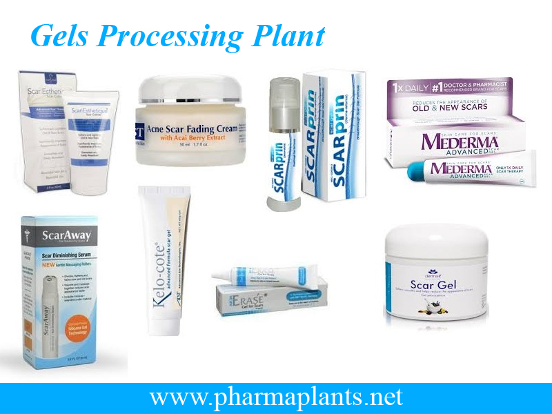 Gel Manufacturing Plant, Gels Processing Plant